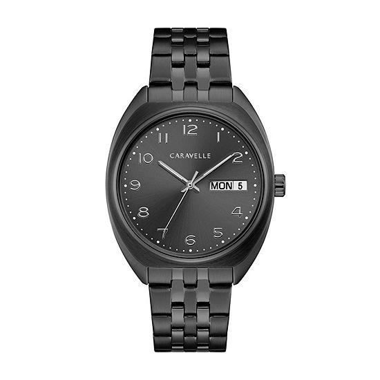 Caravelle Mens Gray Stainless Steel Bracelet Watch-45c115