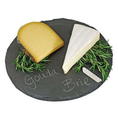 Country Home: Circle Slate Cheese Board