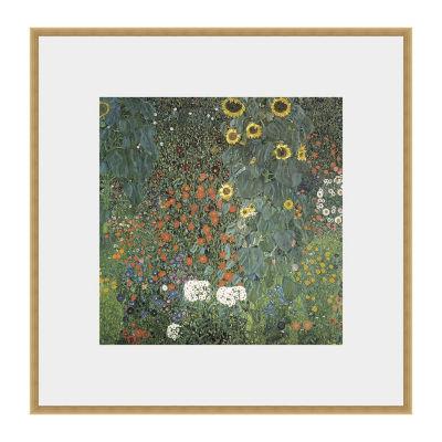 Farm Garden With Sunflower Framed Print