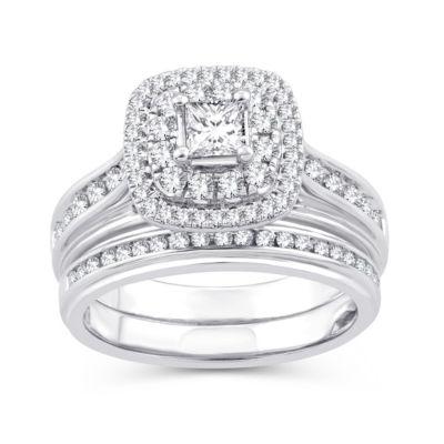 Womens 1 1/10 CT. T.W.  White Diamond 10K Gold Engagement Ring