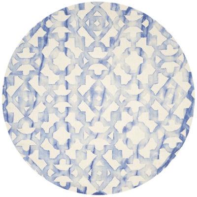 Safavieh Dip Dye Collection Joakim Geometric Round Area Rug