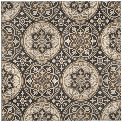 Safavieh Lyndhurst Collection Evette Floral SquareArea Rug