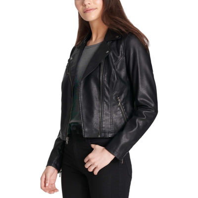 Levi's Faux Leather Water Resistant Lightweight Motorcycle Jacket