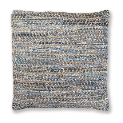 St. Croix Trading Matador Denim & Hemp Chindi Blue Pillow
