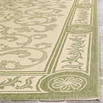Safavieh Courtyard Collection Miah Floral Indoor/Outdoor Area Rug