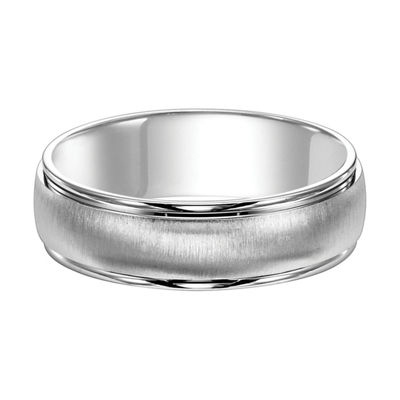 Unisex 4.5mm 14K White Gold Wedding Band