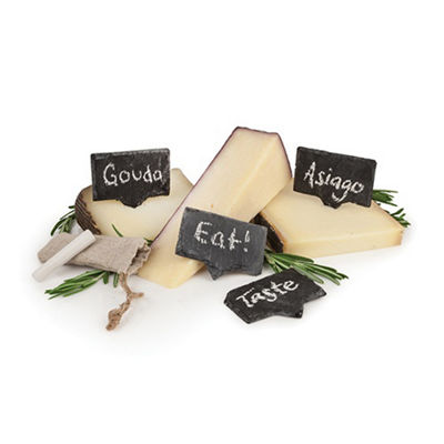 Rustic Farmhouse™ Slate Cheese Markers By Twine