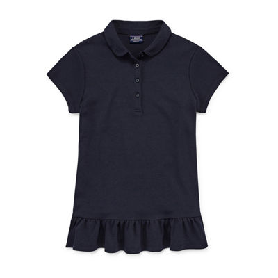 Izod Exclusive Short Sleeve Tunic Polo Girls 4-18 and Plus