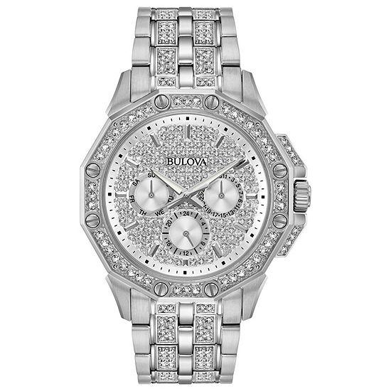 Bulova Octava Mens Silver Tone Stainless Steel Bracelet Watch-96c134