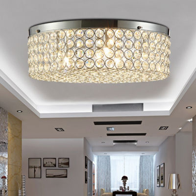 Giannis 6-light Flush Mount Ceiling Lamp Crystal and Chrome
