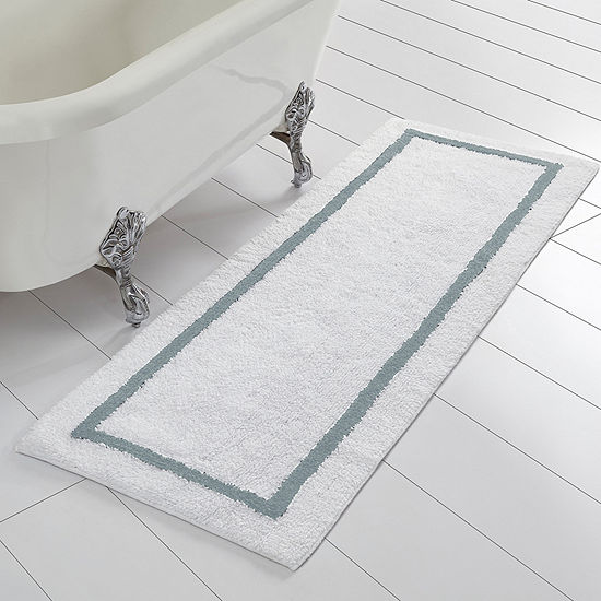 Pacific Coast Textiles Two-Tone Cotton Reversible Bath Runner