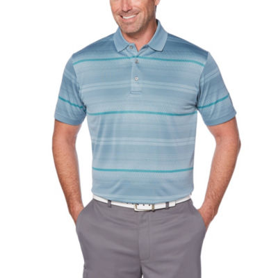 PGA TOUR Easy Care Short Sleeve Jacquard Double knit Polo Shirt