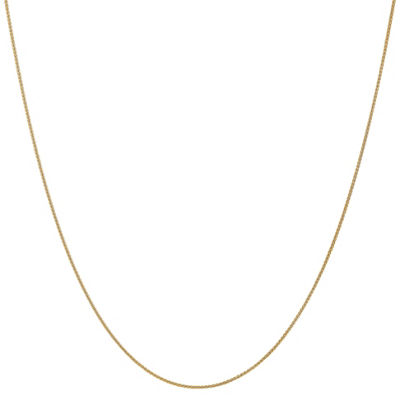 14K Gold 18 Inch Solid Wheat Chain Necklace