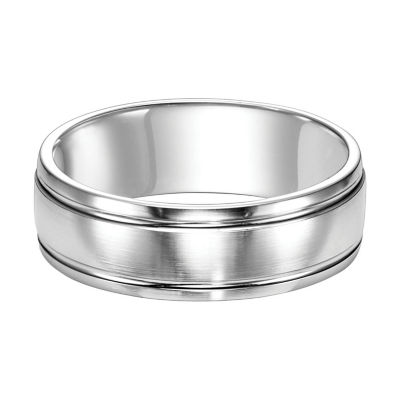 Unisex 5mm 14K White Gold Wedding Band