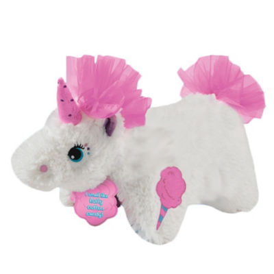 "Pillow Pet 16"" Sweet Scented Cotton Candy Unicorn"