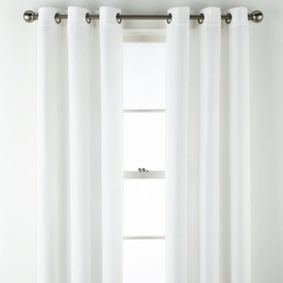 Home Expressions Elliott Basketweave 2-Pack Room Darkening Grommet-Top Curtain Panel