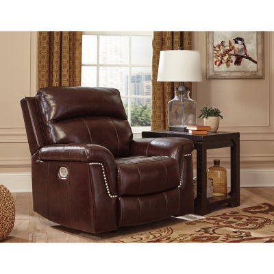 Signature Design By Ashley® Timmons Leather PowerRecliner