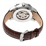 Heritor Unisex Adult Automatic Brown Leather Strap Watch-Herhr7203