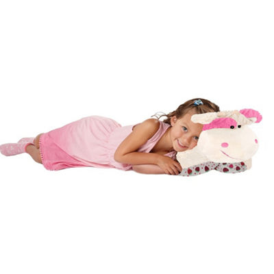 "Pillow Pet 16"" Sweet Scented Strawberry Milkshake Cow"