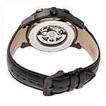 Heritor Unisex Adult Automatic Black Leather Strap Watch-Herhr7206