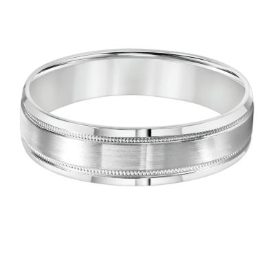 Unisex 7mm 14K White Gold Wedding Band