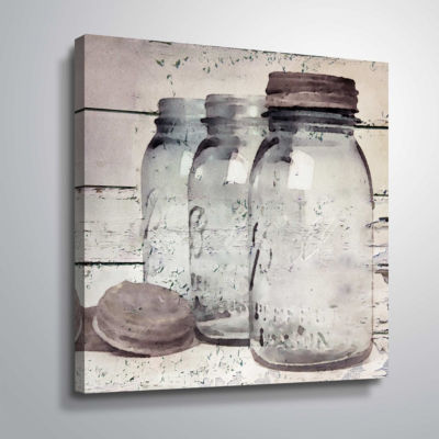 Vintage Jars II Gallery Wrapped Canvas
