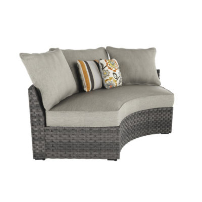Outdoor by Ashley® Spring Dew Curved Corner Patio Chair with Cushion