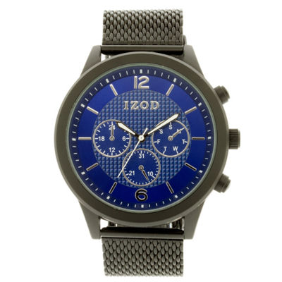 IZOD Mens Black Strap Watch-Izo5143jc