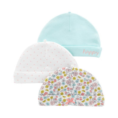 Carter's Little Baby Basics Girls 3-pc. Baby Hat