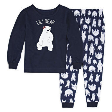 Sleepy Nites Polar Bear 2 Piece Pajama Set - Girl's
