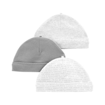 Carter's Little Baby Basics Boys 3-pc. Baby Hat