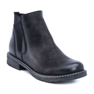 GC Shoes Womens Evan Chelsea Boots Flat Heel Pull-on