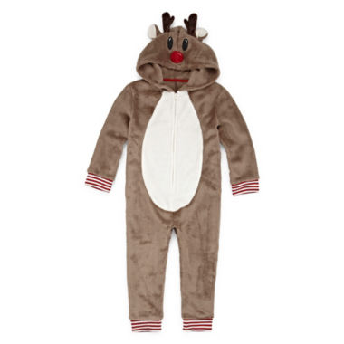 North Pole Trading Company Reindeer 1 Piece Pajama - Unisex Toddler