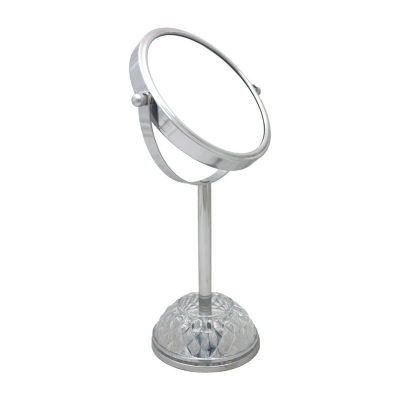 Large Round Glass Based Chrome Mirror