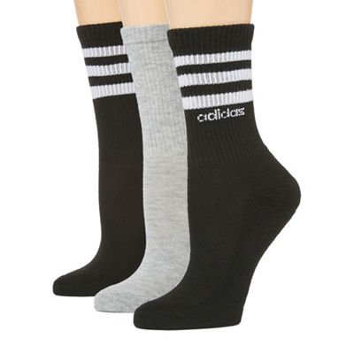 adidas 3pk Striped Crew Socks