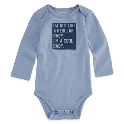 "Okie Dokie ""I'm Not a Regular Baby"" Long Sleeve Slogan Bodysuit - Baby NB-24M"