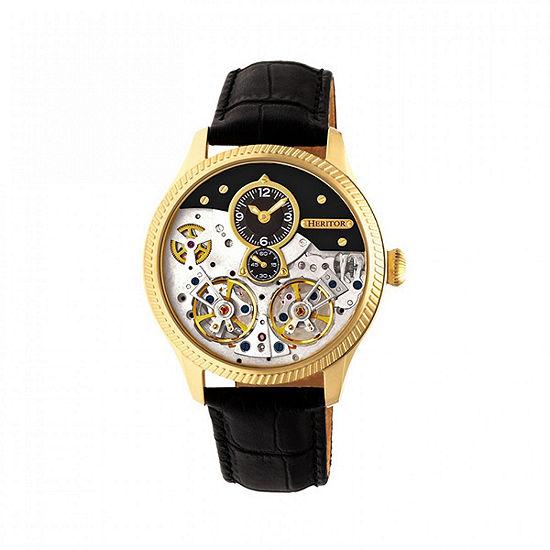 Heritor Unisex Black Automatic Strap Watch-Herhr7304