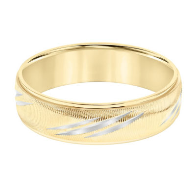 Unisex 6mm 14K Gold Wedding Band