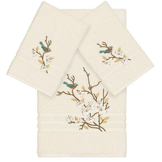Linum Home Textiles 100% Turkish Cotton Spring Time 3PC Embellished Towel Set