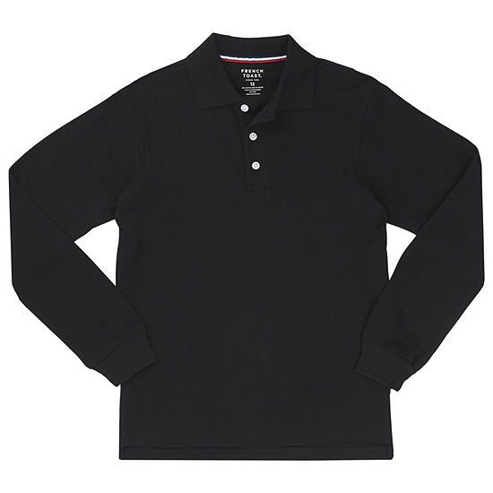 498bf787e French Toast Long Sleeve Pique Polo Long Sleeve Knit Polo Shirt Toddler Boys  JCPenney