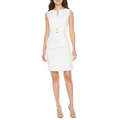 Chelsea Rose Sleeveless Embellished Sheath Dress