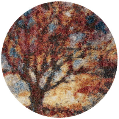 Safavieh Gypsy Collection Jackalyn Abstract RoundArea Rug