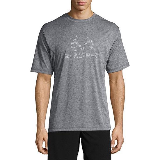 Realtree Mens Crew Neck Short Sleeve Moisture Wicking T Shirt