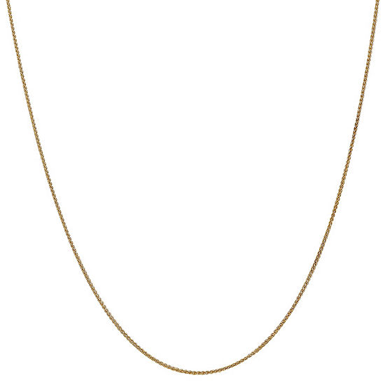 14K Gold 14 Inch Solid Wheat Chain Necklace