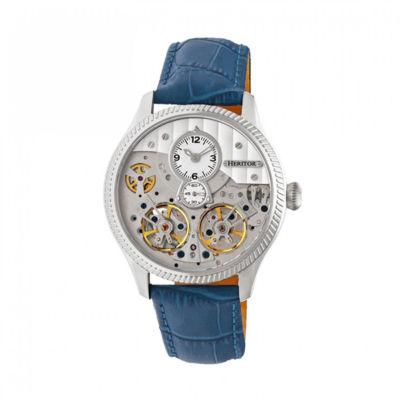 Heritor Unisex Blue Strap Watch-Herhr7303