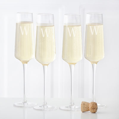 Cathy's Concepts 4-pc. Personalized Champagne Flutes