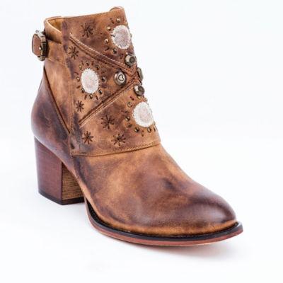 GC Shoes Womens Austin Block Heel Zip Bootie