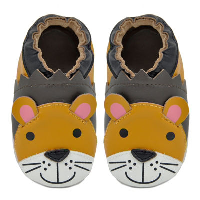 Momo Baby Boys Soft Sole Leather Shoes - Lion