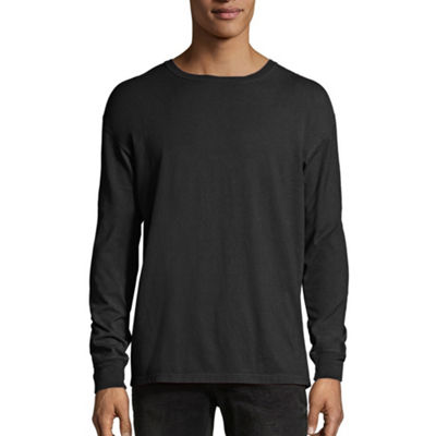 Hanes Mens Crew Neck Long Sleeve Cooling T-Shirt