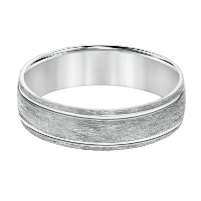 Unisex 6mm 14K White Gold Wedding Band